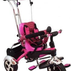 Tricicleta Multifunctionala Happy Days - Roz - Tricicleta copii Baby Mix