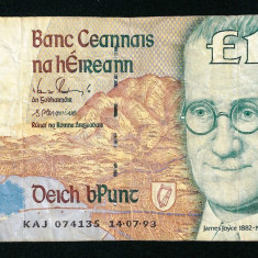 IRLANDA 10 Pounds 14.07.1993 - stare conform foto - bancnota europa