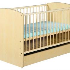Patut Copii Lemn Cu Sertar Karolina Ii Natur - Patut lemn pentru bebelusi Klups