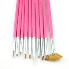 Set 10 pensule pentru gel acryl