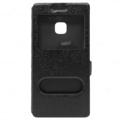 Husa ALLVIEW X3 Soul Lite S-VIEW Neagra, Alt model telefon Allview, Negru, Piele Ecologica