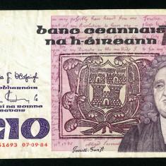 IRLANDA 10 Pounds 07.09.1984 - stare conform foto - bancnota europa