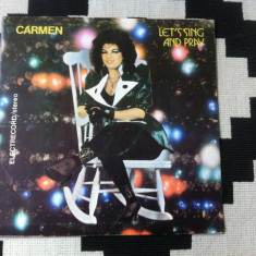 Carmen muresan let's sing and pray album disc vinyl lp Muzica Pop electrecord usoara slagare, VINIL