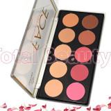 Trusa Blush & Pudra fata 10 culori - Face Contour Palette