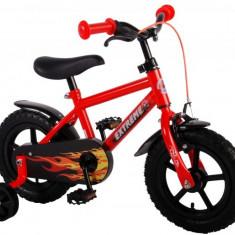 Bicicleta Copii Baieti 12 Inch Volare Extreme Satin Orange Cu Roti Ajutatoare