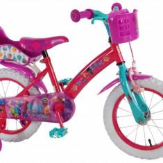 Bicicleta Pentru Copii Fetite Trolls Volare 16 Inch Cu Roti Ajutatoare - Bicicleta copii