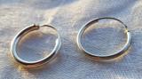Cercei argint CERC sectiune cilindrica Finuti Mici VECHI Delicati vintage