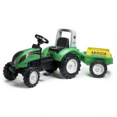 Tractor Ranch Farm Verde Cu Remorca Falk