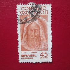 TIMBRE BRAZILIA SERIE STAMPILATA