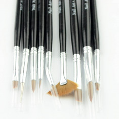 Set 9 pensule pentru gel acryl