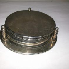 Set de sase suporti metalici, pentru pahare