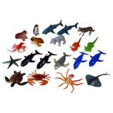 Jucarie Set 20 animale marine din lumea marilor si a oceanelor