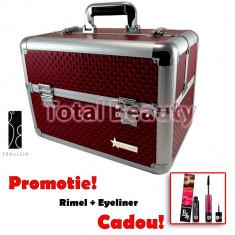 Geanta Produse Cosmetice din aluminium Fraulein38, culoarea Diamond Red - Geanta cosmetice