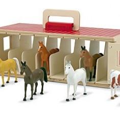 Grajd Portabil Cu 8 Cai Melissa And Doug - Figurina Animale