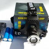 Lanterna frontala Zoom LED CREE acumulatori LiIon 18650 lanterna de cap