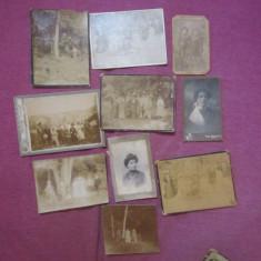 Fotografii vechi pe carton lot 24 buc diferite marimi c8 - Fotografie veche
