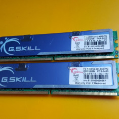 Kit 4GB DDR2 Desktop, 2x2GB, G.SKILL, 800Mhz, PC2-6400, CL5, Radiator - Memorie RAM G.Skill, Dual channel