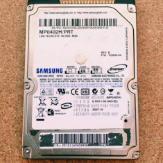 Hard Disk / HDD IDE SAMSUNG 40GB MP0402H/PRT FUNCTIONAL - HDD laptop Samsung, 41-80 GB, Rotatii: 5400