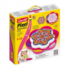 Joc Creativ Fanta Color Pixel Mandala Quercetti Creatie Imagini Mozaic Mandala 1200 Piese - Jocuri arta si creatie