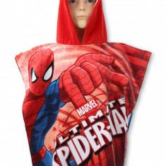 Prosop de plaja poncho Spiderman rosu