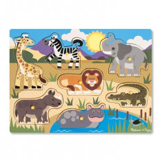 Puzzle Melissa & Doug Din Lemn Animalele Safari