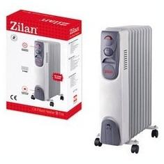 Calorifer electric ZILAN ZLN-2111, 9 elementi, Putere 2000 W, 3 trepte de putere, Termostat de siguranta, Termostat reglabil