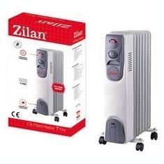 Calorifer electric ZILAN ZLN-2104, 7 elementi, Putere 1500 W, 3 trepte de putere, Termostat de siguranta, Termostat reglabil