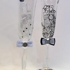 Pahare cristal Bohemia pictate. model 18