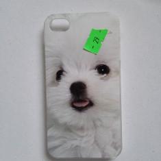 Husa capac iPhone 4 4s cu imprimeu - Bumper Telefon, Alb