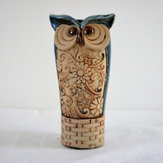 Vaza bufnita bleu inalta - Vaza si suport flori