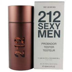 Parfum Tester - Carolina Herrera 212 Sexy Men - 100 ml - Parfum barbati, Apa de toaleta