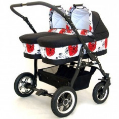 Carucior gemeni Freestyle Twins - Grupa 0+ (3 in 1)