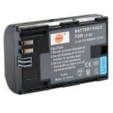 Acumulator / baterie DSTE pt Canon tip LP-E6, 2600 mAh  70D, 7D II 6D, 5D II III
