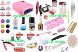 Kit set trusa unghii false:lampa freza geluri constructie/colorate tipsuri PROMO
