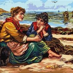 Goblen Repaus la țărmul mării