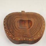 Fructiera lemn trepte cu 3 picioare