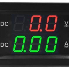 Voltmetru/Ampermetru Dig., Cu LED-Uri, 6 Digiti, C.Continuu, 0-300V/0-100A/78038