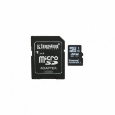 Card de memorie Kingston Micro SDHC 32 GB Clasa 4 adaptor SD