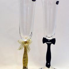 Pahare cristal Bohemia pictate. model 19