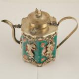 Ceainic portelan argintat mic