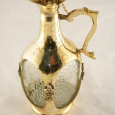 Carafa alama cu sticla, aurie