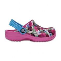 Saboti pentru copii Crocs Classic Graphic Clog Multi Color Pink (CRC204118-90Q) - Papuci copii Crocs, Marime: 23.5, 25.5, 27.5, 29.5, 32.5, 33.5, Culoare: Roz, Fete