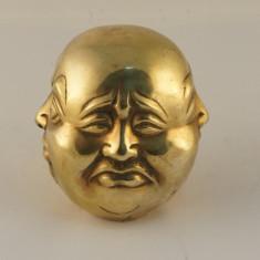Cap Budha 4 fete bronz medii