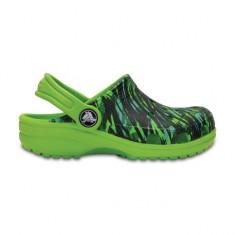 Saboti pentru copii Crocs Classic Graphic Clog Volt Green (CRC204118-395) - Papuci copii Crocs, Marime: 21.5, 23.5, 25.5, 27.5, 29.5, 32.5, 33.5, Culoare: Verde, Baieti