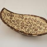 Bol rotund floare cocos rasina sidef