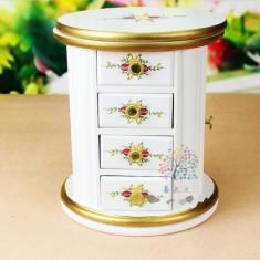 Caseta pentru bijuterii din lemn Dulap Rotativ
