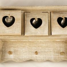 Dulap 3 sertare mici + cuier perete - Cuier hol