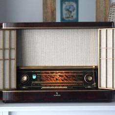 Radio lampi Siemens Schatulle H42, complet restaurat - Aparat radio
