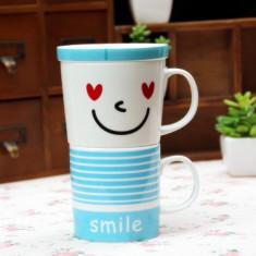 Smiley-coffee set Blue