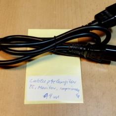 Cablu prelungitor Alimentare PC, Imprimanta, Monitor 0, 9 m - Cablu PC